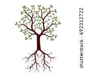 summer tree. vector... | Shutterstock .eps vector #692312722
