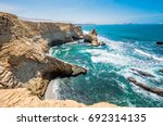 cathedral rock formation ... | Shutterstock . vector #692314135