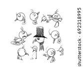 halloween  mr.pogu the eater ... | Shutterstock .eps vector #692318995