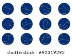constellation of the zodiac... | Shutterstock .eps vector #692319292