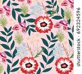 flower pattern | Shutterstock .eps vector #692324596