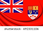 3d Canadian Red Ensign  1957...