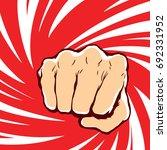 punching fist hand vector  | Shutterstock .eps vector #692331952