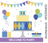 birthday party sets   Shutterstock .eps vector #692334652