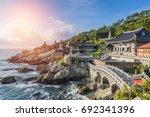 haedong yonggungsa temple in...   Shutterstock . vector #692341396