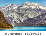glacier bay national park ... | Shutterstock . vector #692344186