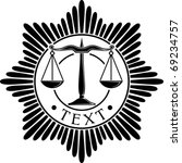 Scales Of Justice Badge  Symbo...