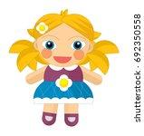 Cartoon Cheerful Girl   Doll...