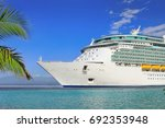 luxury cruise ship sailing to... | Shutterstock . vector #692353948