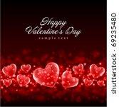 valentine's day or wedding... | Shutterstock .eps vector #69235480