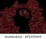 generative human head shape... | Shutterstock .eps vector #692355445