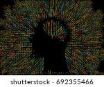generative human head shape... | Shutterstock .eps vector #692355466