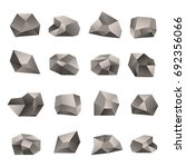 set of triangular stones... | Shutterstock . vector #692356066