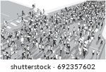 illustration of crowd marching... | Shutterstock .eps vector #692357602