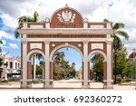 arch of triumph located in jose ... | Shutterstock . vector #692360272