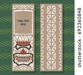 abstract summer vector banner... | Shutterstock .eps vector #692360848
