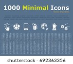 set of 1000 universal solid... | Shutterstock .eps vector #692363356