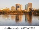 skyline of winnipeg. winnipeg   ... | Shutterstock . vector #692363998