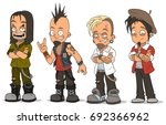 cartoon cool punk rock metal... | Shutterstock .eps vector #692366962