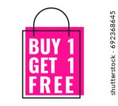 buy 1 get 1 free. bag icon.... | Shutterstock .eps vector #692368645