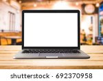 empty front view of the laptop... | Shutterstock . vector #692370958