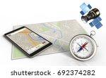 3d illustration of bright map... | Shutterstock . vector #692374282