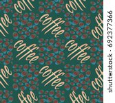 coffee bean seamless pattern...