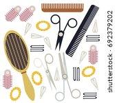 hair element vector... | Shutterstock .eps vector #692379202