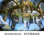digital illustration of fantasy ... | Shutterstock . vector #692386666