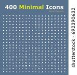 set of 400 universal fitness... | Shutterstock .eps vector #692390632