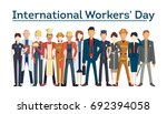 international worker's day.... | Shutterstock . vector #692394058