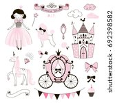 princess world clip art kit | Shutterstock .eps vector #692398582