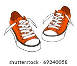 Cartoon sneakers - vector - stock vector