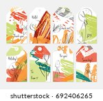 hand drawn creative tags.... | Shutterstock .eps vector #692406265