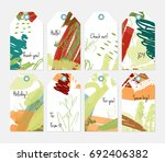 hand drawn creative tags.... | Shutterstock .eps vector #692406382