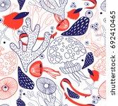 seamless beautiful sea pattern... | Shutterstock .eps vector #692410465