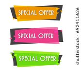 special offer sale banner for... | Shutterstock .eps vector #692411626