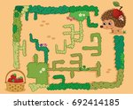 help hedgehog to find way to... | Shutterstock .eps vector #692414185