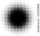 halftone element  circular... | Shutterstock .eps vector #692420806