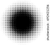 halftone element  circular... | Shutterstock .eps vector #692421256