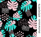 seamless pattern cute design.... | Shutterstock . vector #692424976