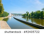 prague old town and river | Shutterstock . vector #692435722