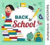 back to school. vector... | Shutterstock .eps vector #692439496