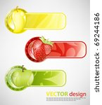 fruits banner design | Shutterstock .eps vector #69244186