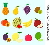 fruit juicy and ripe collected... | Shutterstock . vector #692442502
