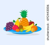 illustration of ripe and sweet... | Shutterstock . vector #692443006