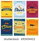 shoe shop and repair retro... | Shutterstock .eps vector #692454412