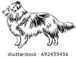 decorative portrait of standing ... | Shutterstock .eps vector #692455456