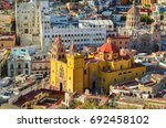 panoramic view of the city of... | Shutterstock . vector #692458102