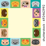colorful vector frame with... | Shutterstock .eps vector #692462992